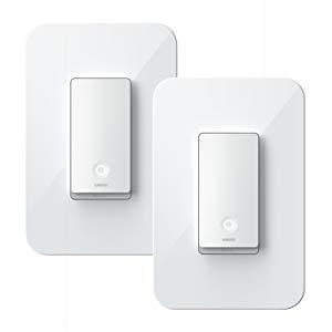 Wemo WiFi Smart 3-Way Light Switch, 2-Pack
