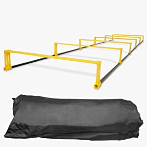 6 Rung Agility Ladder Hurdles//Speed Ladder Hurdles Yes4All Agility Elevation Ladder Nylon Carrying Bag Included