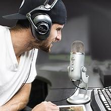 Yeti, Micrófono USB, Micrófono para podcasts, Micrófono para PC,Blue Yeti, Blue Microphones