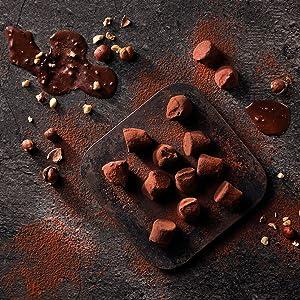 hazelnut toasted crunchy cocoa dusted truffles monty bojangles chocolate box luxury gift delicious