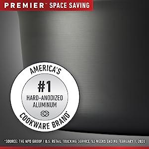Calphalon Premier Space Saving #1 Hard Anodized Cookware Brand