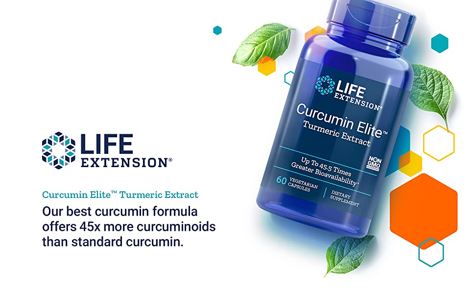 Curcumin Elite, Tumeric Extract, Tumeric Supplement, Curcumin Supplement, Life Extension