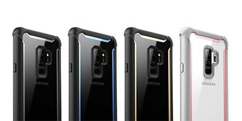 i-Blason Case for Galaxy S9+ Plus 2018 Release, [Ares] Full-body Rugged Clear Bumper Case with Built-in Screen Protector (Grey/Black)