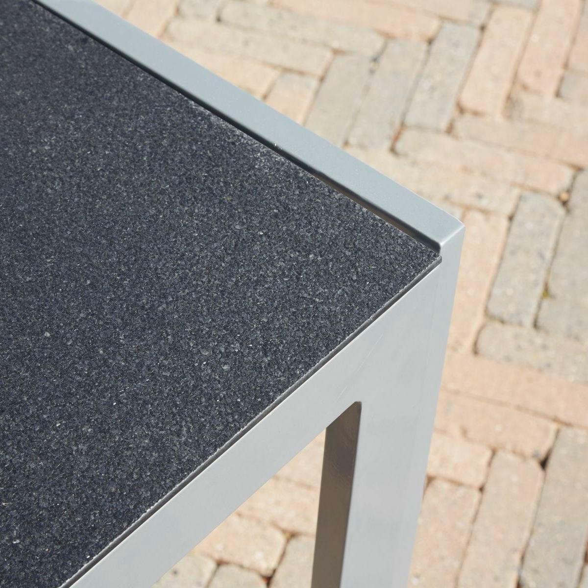 Amazon.de: greemotion Tisch Monza silber, Esstisch mit