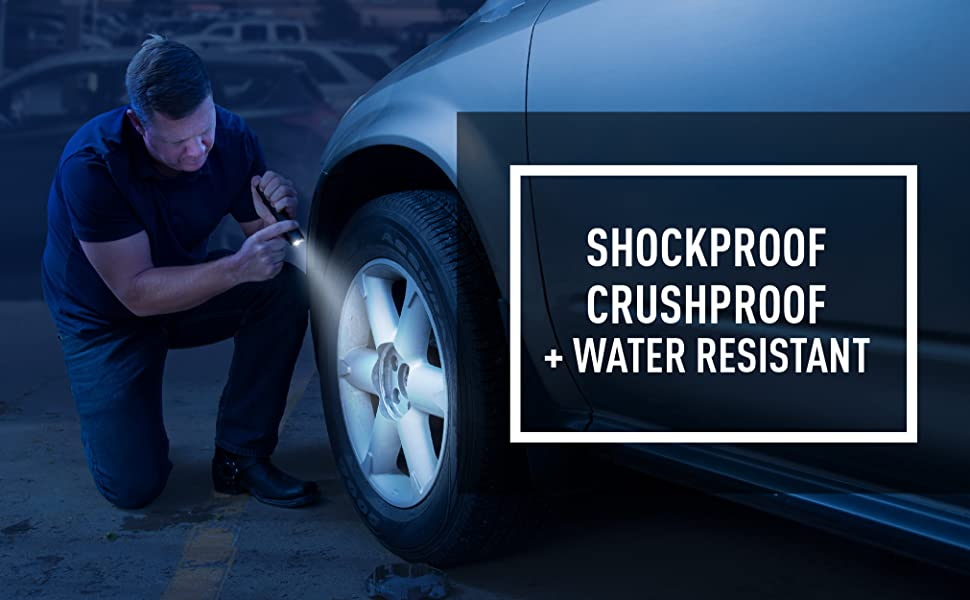 Shockproof, crushproof, water resistant