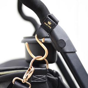 gold stroller hook