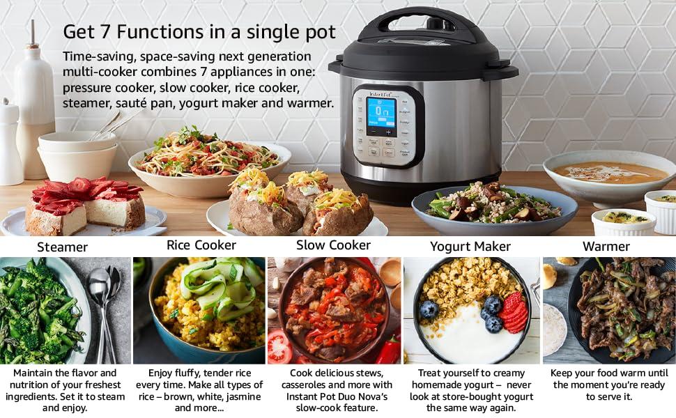 single pot cooking, instant pot, instantpot, steaming, yogurt making, warming, rice cooker