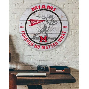 Miami of Ohio Redhawks Throwback Circle Sign