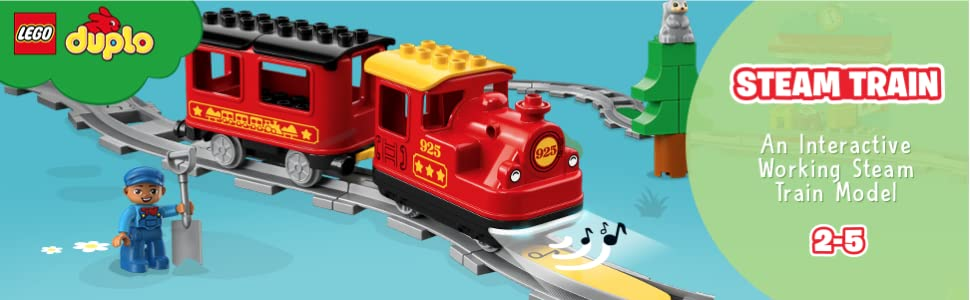 E-Lok Lokomotive aus 10875 Push /& Go Modell ab 2018 LEGO Duplo Eisenbahn