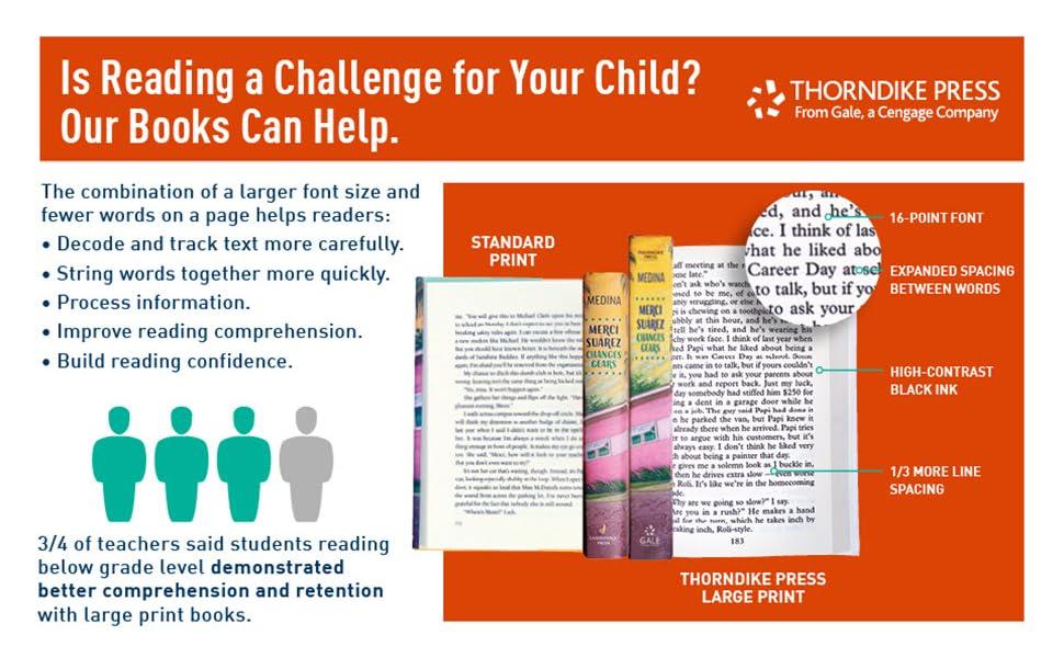 reading, literacy, large print, books