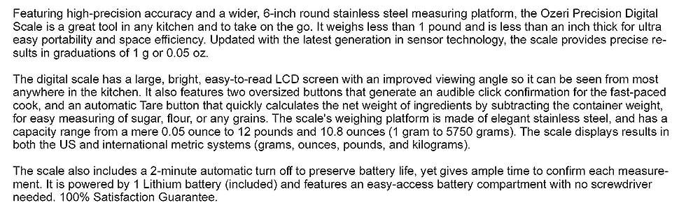 Amazon Com Ozeri Zk011 Precision Pro Stainless Steel