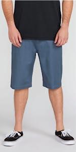 men chino short khaki knee high lightweight durable recycled fabric
