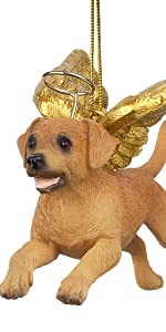 Design Toscano Honor the Pooch: Golden Retriever Holiday Dog Angel Ornament