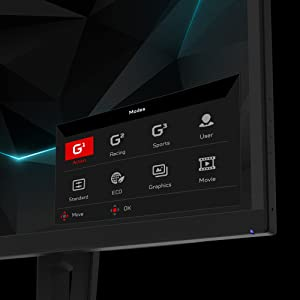 "Acer Predator XN253Q 24.5"" NVIGA G-SYNC 144Hz Full HD Gaming Monitor Display"