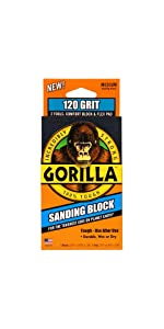 Gorilla 120 Grit Sanding Block and Pad