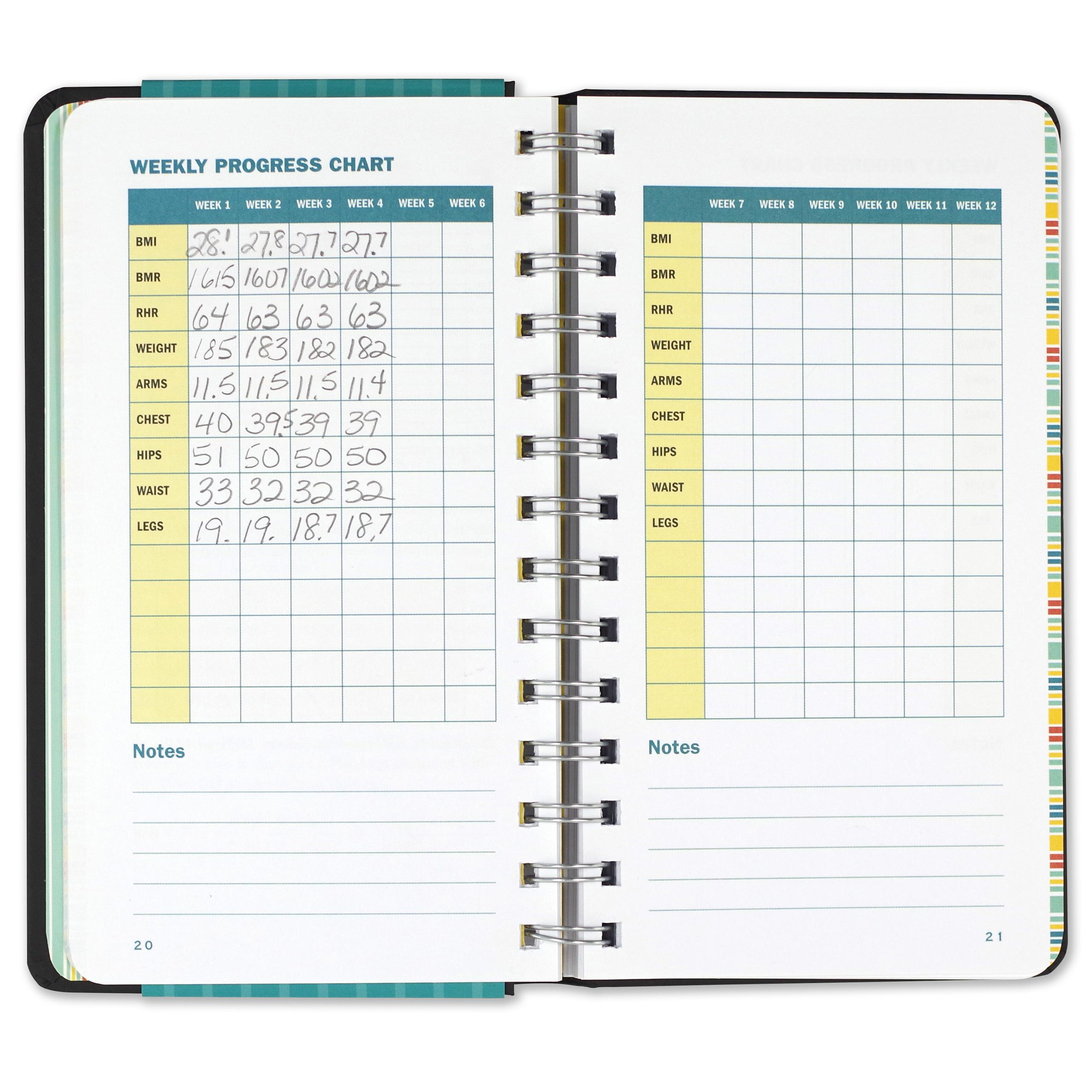 workout journal diary notebook fitness claudine gandolfi