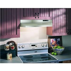 Broan 42000 Series Under Cabinet Range Hood, Stainless Steel