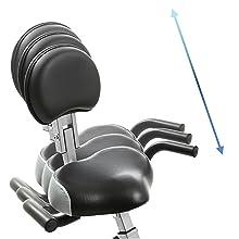 Xterra FB350 Folding BIke with backrest, adjustable seat