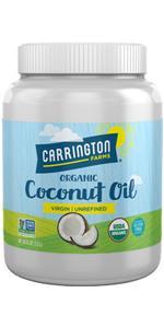 Carrington Farms Gluten Free, Unrefined, Cold Pressed, Extra Virgin Organic Coconut Oil