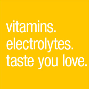 Vitamin. electrolytes. taste you love