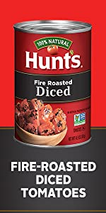 Canned Hunt's Fire Roasted Diced Tomatoes