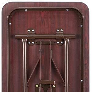 Amazon.com: Laminado Nogal rectangular melamina plegable ...