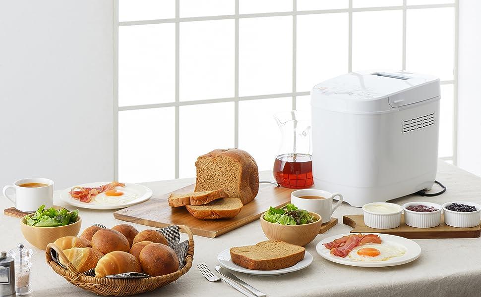 ツインバード ホームベーカリー ブランパンメーカー 低糖質 ホワイト BM-EF36W