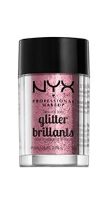 nyx, glitter, primer