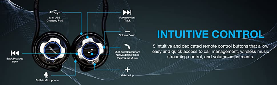 intuitive control, call management, wireless music, streaming control, volume adjustments