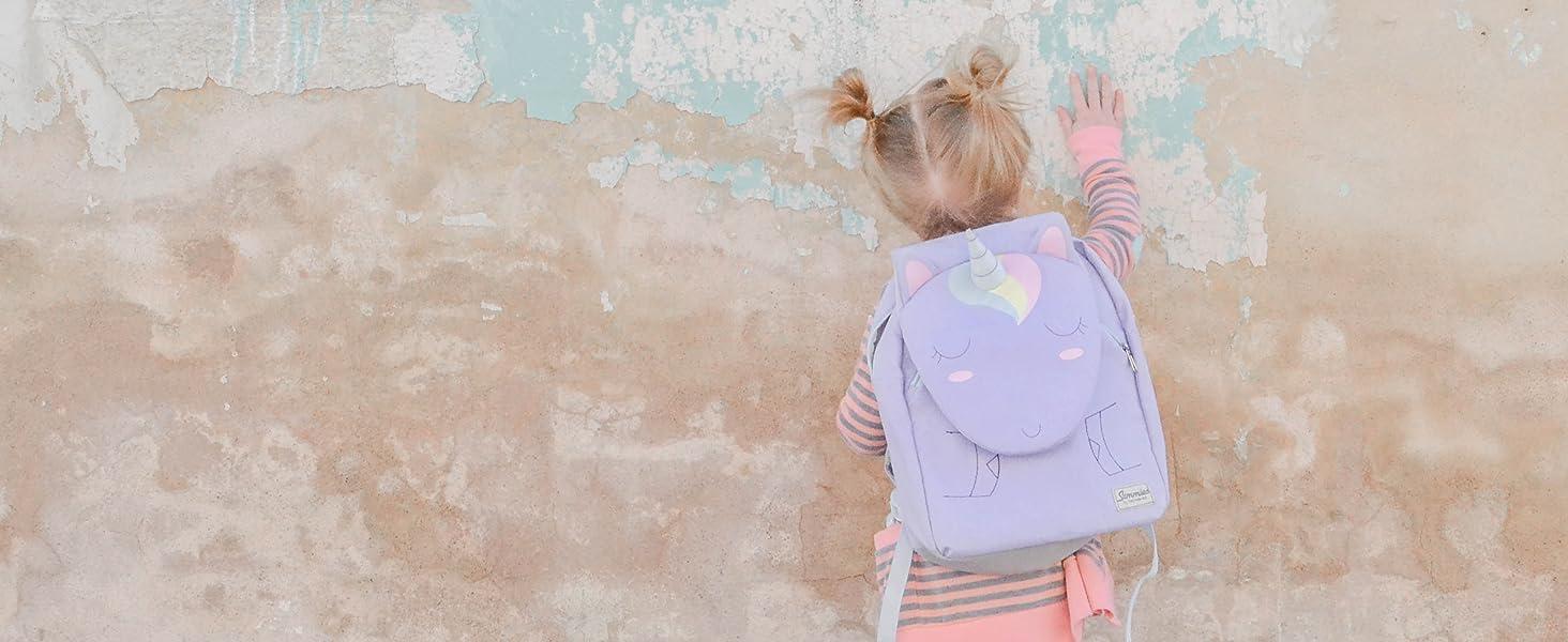 Violet Unicorn Lily Samsonite Happy Sammies 11.5 L 31 cm Sac /à Dos Enfant S+