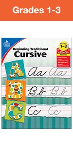 beginning traditional cursive workbook grade 1