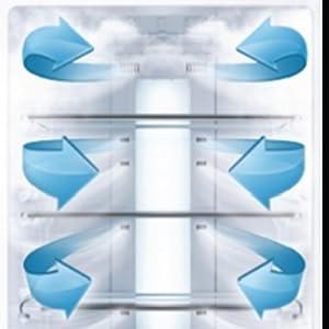 Multi Airflow Design,Midea Freezer , Midea Upright Freezer ,Midea Fridge
