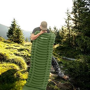 Ultralight Sleeping Pad;Carrying Bag;Compact Sleeping Mat;Backpacking;Hiking Air Mattres;sleeping ba