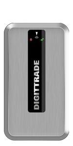 External portable Security Festplatte RS128 1TB encrypted hard disk RFID Token usb 2.0 Kabel Silber