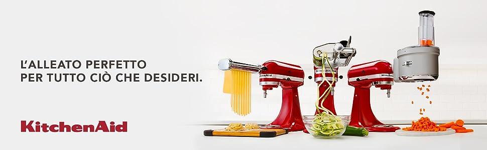 Kitchenaid 5ksm1ja estrattore lento di succo e salse ad - Robot da cucina con estrattore di succo ...