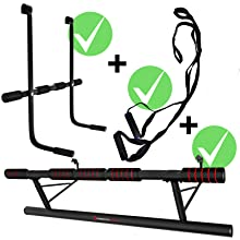 Pull Up Bar for CrossFit incl Safe Door Frame Assembly at Home without Screws eBook Dip Bar /& Power Ropes Sportstech Unique Combination Package Foldable Door Bar KS500 4in1 Pull-Up bar incl