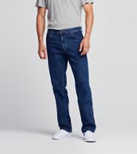 durable straight jeans men wrangler
