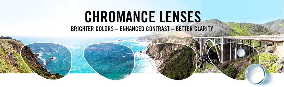 Chromance lenses, brighter colors, enhanced contrast, better clarity