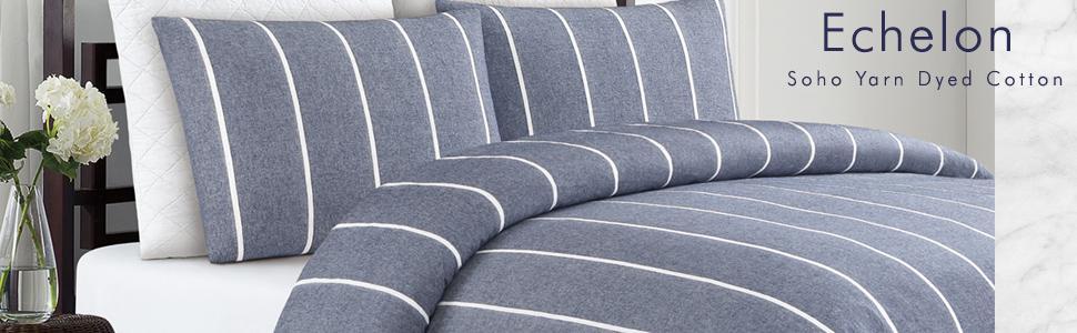 Soho yarn dyed cotton duvet cover set
