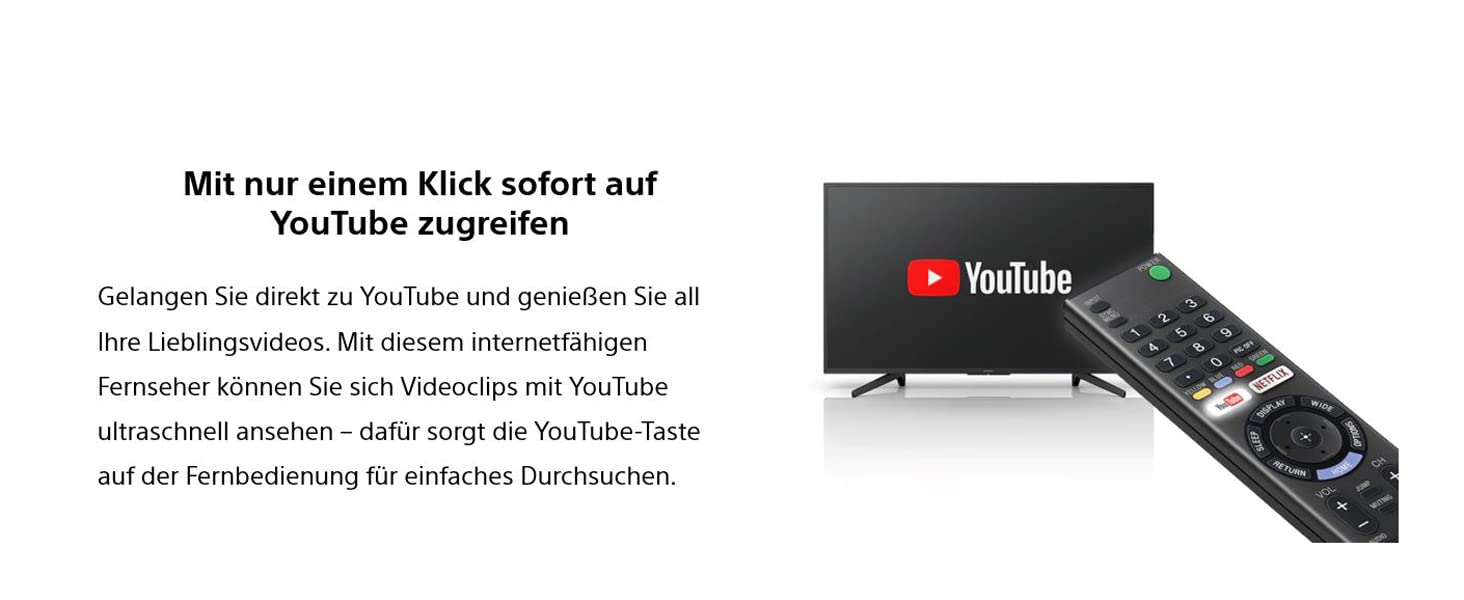 Sony Fernseher; 4K; HDR; Smart TV; XF7004; YouTube