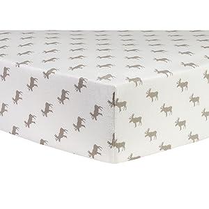 moose crib sheets, flannel moose crib sheets, baby crib sheets, fitted crib sheet