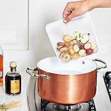 スタッシャー stasher シリコーンバッグ シリコン 保存容器 湯煎 調理 エコ ジップロック 下味冷凍 エコカップ BPAフリー 食品ラップ 耐熱容器 再利用可能 繰り返し使える 持ち運び