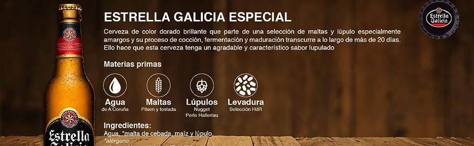 Estrella Galicia - Cerveza Especial - 6 X 250 ml: Amazon.es ...