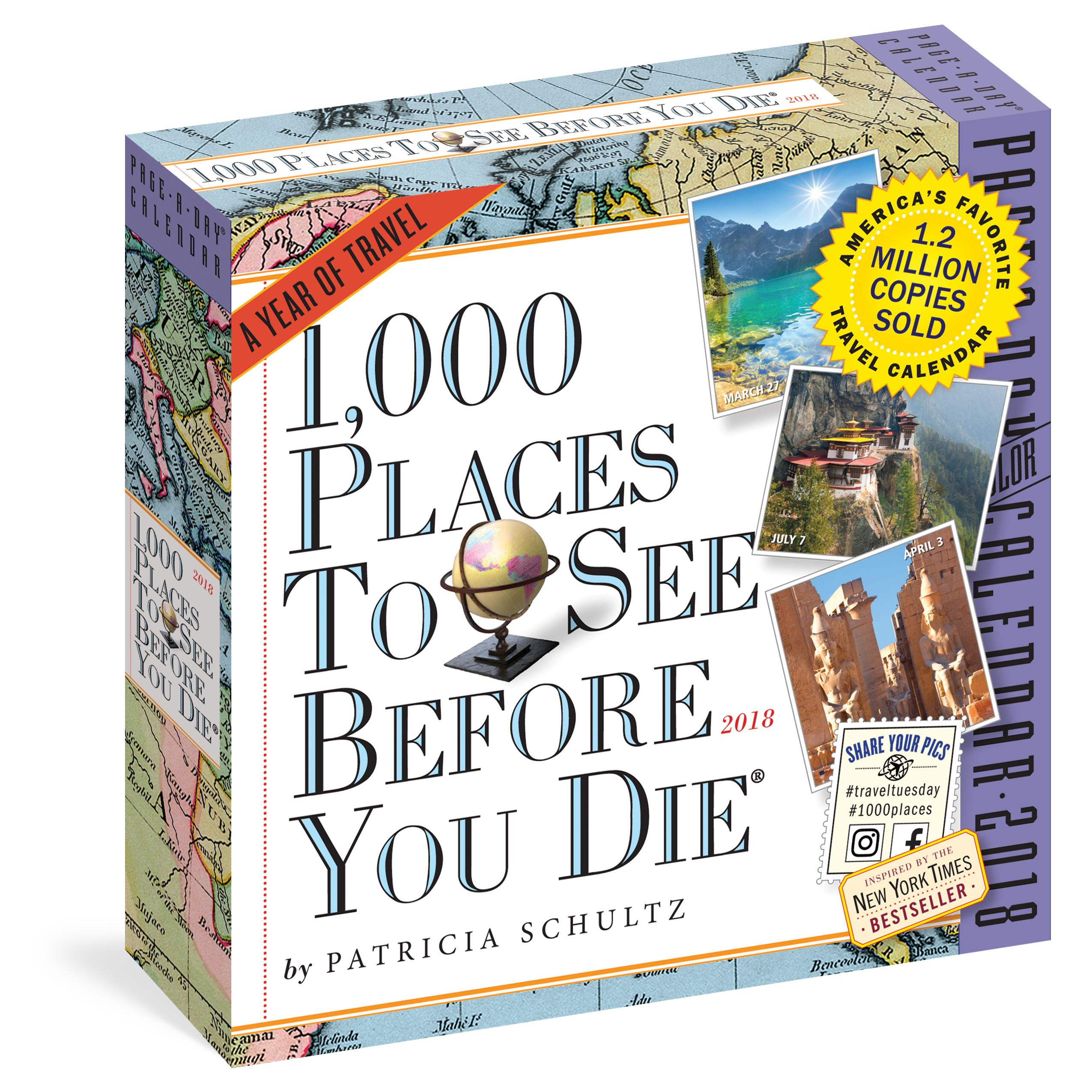 1 000 Places To See Before You Die Page A Day Calendar 2018