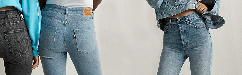 levis mujer jeans vaqueros 724,high rise,straight,denim