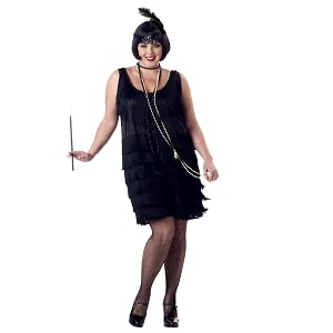 California Costumes Women\'s Fashion Flapper Plus Size Costume