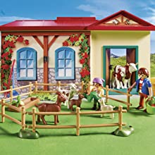Playmobil, Country, Farm, Take Along, Animals, Figures, Fence