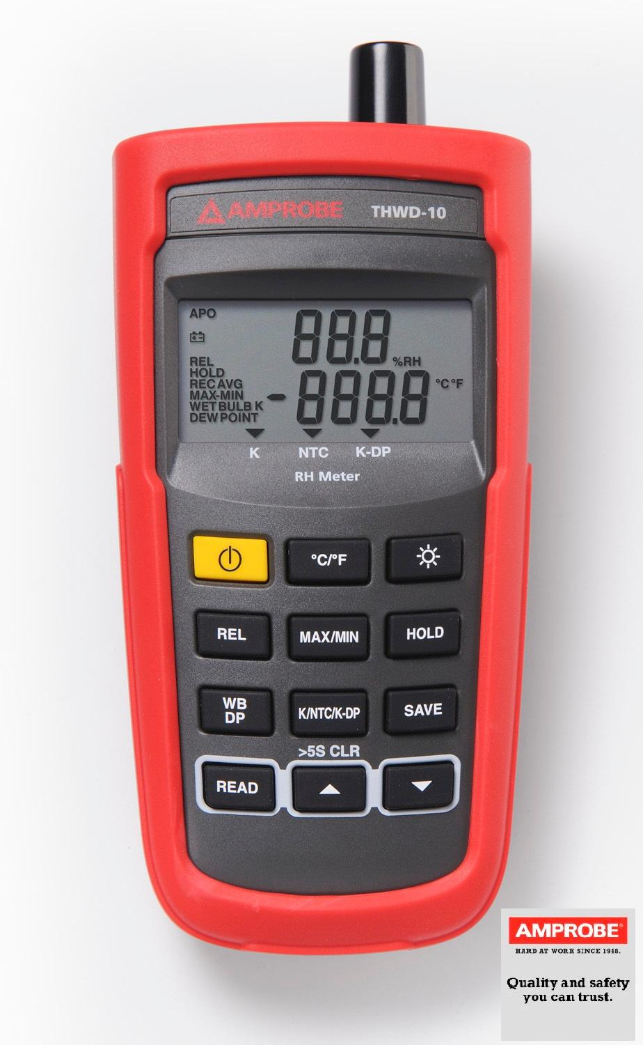 Relative Humidity Meter : Amprobe thwd relative humidity and temperature meter
