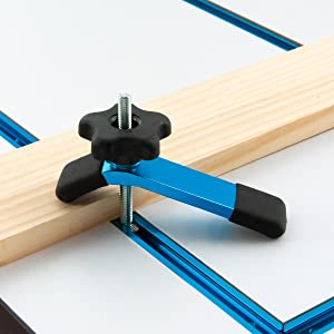 PowerTec 71209 T-Track-Kit di intersezione Blu anodizzato
