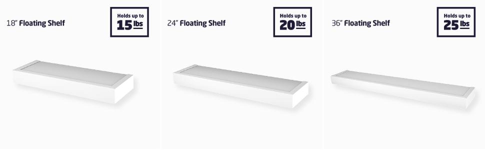 High and mighty floating shelves